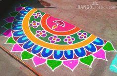 diya rangoli simple and easy rangoli designs for diwali Best Rangoli Design, Easy Rangoli Designs Diwali, Rangoli Simple, Rangoli Designs Latest, Simple Rangoli Designs Images, Latest Rangoli, Rangoli Designs Flower, Small Rangoli Design, Rangoli Patterns
