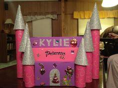 Princess castle valentine card box!