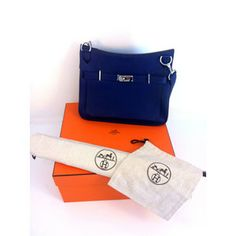 Hermes Jypsiere Unisex shoulder bag Blue - Purple color - IRIS | swapshop.gr