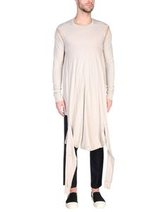Rick Owens Men T-Shirt on YOOX. The best online selection of T-Shirts Rick Owens. YOOX exclusive items of Italian and international designers - Secure payments Rick Owens Men, Tunic Tops, Mens Fashion, Grey, Long Sleeve, Sleeves, T Shirt, Cotton, Clothes