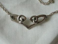 VINTAGE ORKNEY SCOTTISH SILVER CELTIC PENDANT NECKLACE-OMG OLA M GORIE