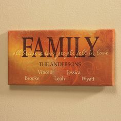 Family Canvas Print $29.99