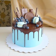 Cake Birthday Boys Cream Ideas For 2019 cake decorating recipes kuchen kindergeburtstag cakes ideas Cookie Cake Birthday, Birthday Cakes For Men, Birthday Cake Smash, Birthday Cake Decorating, Birthday Boys, Chocolate Birthday Cake For Men, Birthday Recipes, Chocolate Drip Cake, Chocolate Fondant