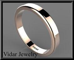 Gold Wedding Band,Mens wedding band,Mens wedding ring,Ring,Men,Commitment ring,promise ring,simple wedding ring,plain wedding ring,thin.. $549.00, via Etsy.