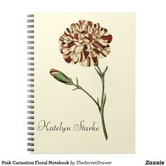 Pink Carnation Floral Notebook