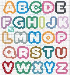 Alfabeto infantil ponto cruz bebe e criança