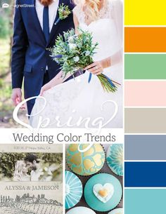 Gorgeous wedding colors for 2016. Look through trending wedding color palettes coming up this season, and find the best color schemes for your wedding.