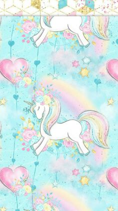 Beautiful, unique professional and personal patterns, background patterns for design Girly Wallpaper, Unicorn Wallpaper Cute, Wallpaper Backgrounds, Iphone Wallpaper, Unicorn Fantasy, Unicorn Art, Cute Unicorn, Rainbow Unicorn, Unicorn Head