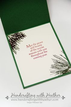stampinup+ornamental+pine+   Christmas Bauble Holiday Card – Stampin' Up!