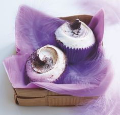 The Hummingbird Bakery's Marbled Cupcakes - an indulgent treat for afternoon tea, and the perfect half-blend of vanilla and chocolate.