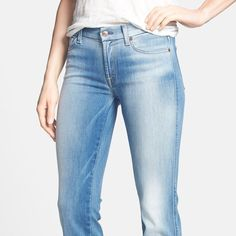 "7 for All Mankind Lightwash Boot Cut Jeans Excellent condition. These jeans from 7 For All Mankind feature a Lightwash and boot cut leg. They were professionally hemmed so check your inseam. Measures: Waist: 28"", Rise: 7.5"", Hips: 36"", Inseam: 28.5 7 for all Mankind Jeans Boot Cut"