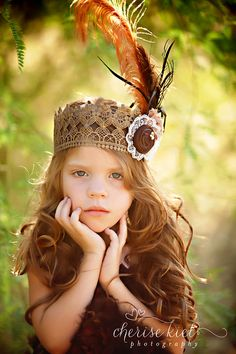 l o v e  c r u s h ... Boho Princess Crown...vintage lace crown large ostrich feathers shabby rosettes pearls photography prop. $44.50, via Etsy.