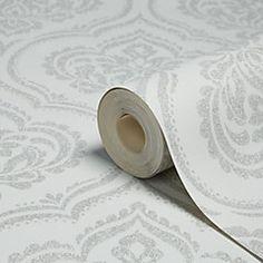Fine Décor Sparkle Soft grey Ornamental damask Glitter effect Wallpaper Mink Wallpaper, Metallic Wallpaper, Embossed Wallpaper, Damask Wallpaper, Glitter Highlight, Graham Brown, Pewter Metal, Garden Supplies, Pattern Paper