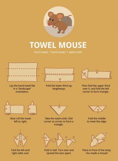 Make laundry day a bit more interesting — How to fold towel animals