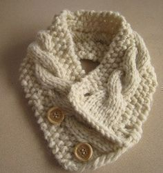 Knitting Pattern Cabled Neck Warmer. $5.50