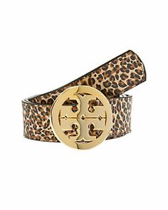 Tory Burch Leather Logo Buckle Belt $195.00  $99.90
