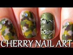 Nail art tutoriel - camouflage militaire HD
