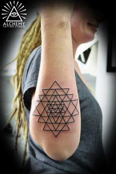 Feminine Geometric Tattoo Ideas