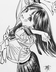 画像 Anime Girl Drawings, Cute Drawings, Character Art, Character Design, Copic Art, Writing Art, Painting Studio, Manga Artist, Anime Sketch