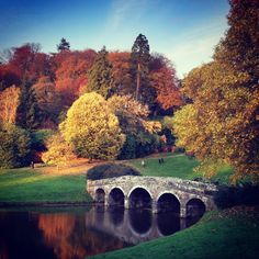 The gardens of Stourhead in Somerset, England were first opened in the 1740s. Stourhead is world-famous for its unique landscape design, and has even featured as the setting in films like 2005's 'Pride and Prejudice'.