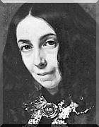 ELIZABETH BROWNING, poeta inglesa, da era vitoriana. Nasceu em Coxhoe Hall, entre as aldeias de Coxhoe e Kelloe em County Durham, Inglaterra, e faleceu 29 Junho 1861, em Florença, Itália.