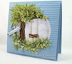 Tree swing .  couldn't you just sit and look at this card for a while?!!