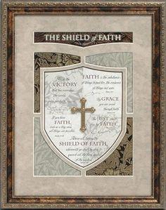 shields of faith | Shield of Faith framed scripture art