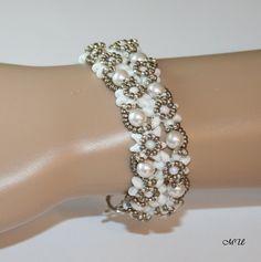 Edles Dirndl Edelweiss Armband mit Perlen von Edelweiss51 auf Etsy