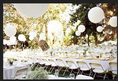 "Ballon Center Piece Idea.  Ground Space.  Can we make this look ""elegant"" ""eclectic"" enough?"