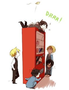 Hahaha lil' birdy pooped on Izaya. XD