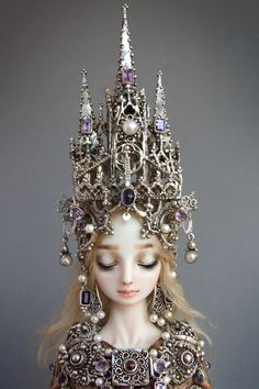 marina bychkova, crown, enchant doll, sterling silver, the artist