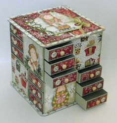 From My Craft Room: Advent-Kalenteri Box Advent Calendar Boxes, Advent Box, Advent Calenders, Homemade Crafts, Diy And Crafts, Paper Crafts, Christmas Projects, Christmas Crafts, Homemade Christmas