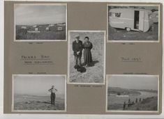 Album page, with  5 vintage photographs  dated  1957 of Friars Bay Caravan Holiday Newhaven East Sussex, with their Bluebird Pathfinder Caravan. for sale on ebay 1byzantine May 2019 Caravan Holiday, Newhaven, East Sussex, Vintage Photographs, Blue Bird, Album, Usa, Vintage Pictures, Card Book