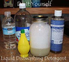 DIY  Liquid Dishwasher Detergent!  The cost is just pennies to make....