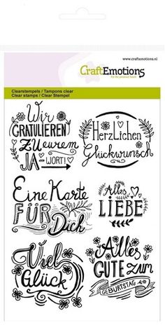 "CraftEmotions Clearstamps ""Handlettering, deutsch"""