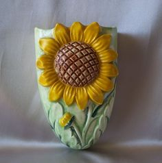 Made In Japan Sunflower Wall Pocket