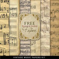 Freebies Vintage Music Papers ~ Far Far Hill