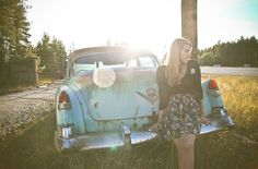 senior pictures with old cars -