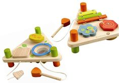 EverEarth Flip Over Musical Triangle Double-sided musical set to play through music and practice aiming for the right instrument. Includes xylophone, spinners, drum, glockenspiel and mallets. Outer Dimensions L: W: H: Age: 18 months Music Toys For Toddlers, Wooden Toys For Toddlers, Toys For Girls, Toddler Toys, Toddler Activities, Kids Toys Online, Organic Baby Toys, Handmade Soft Toys, Musical Toys