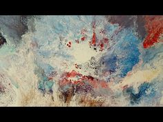 Creating an eye catching acrylic painting using a hairdryer - YouTube