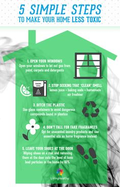 5 simple steps for a healthier house.