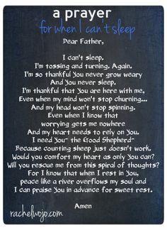 A Prayer for When I Can't Sleep - RachelWojo.com