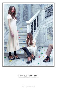Fratelli Rossetti Advertising Campaign Winter 2014.. I bought the oxfords on the left in flats... love love them!