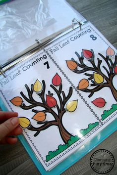 Preschool Counting Activities for Fall - Interactive Binder Preschool Binder, Math Binder, Fall Preschool Activities, Interactive Activities, Preschool Curriculum, Preschool Math, Learning Activities, Preschool Education, Early Math