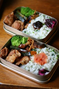 Japanese bento lunch with karaage fried chicken 唐揚げ弁当