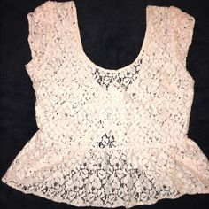Pink top Pink top. This is a light pink lace top. Size medium Pins & Needles Tops Tees - Short Sleeve