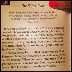 The safest place love quotes god future faith book fear protect excerpt
