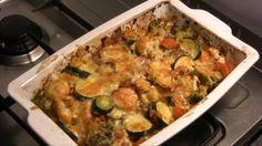 Veggie bake Veggie Recipes, Veggie Bake, Low Carb Vegetarian Recipes, Veggie Casserole, Cooking Recipes, Low Carb Recipes, Diet Recipes, Snack Recipes, Veg Dishes
