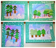 Winter triangle trees-kindergarten