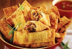 Learn How to prepare Chinese Food Appetizer Appetizer Dishes, Appetizer Recipes, Snack Recipes, Appetizers, Asian Recipes, Ethnic Recipes, Egg Rolls, Spring Rolls, Dim Sum
